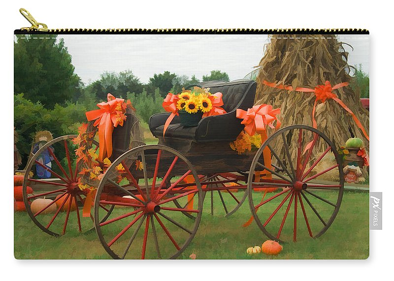 Autumn Carry-all Pouch featuring the photograph Autumn Joy by Kathy Clark