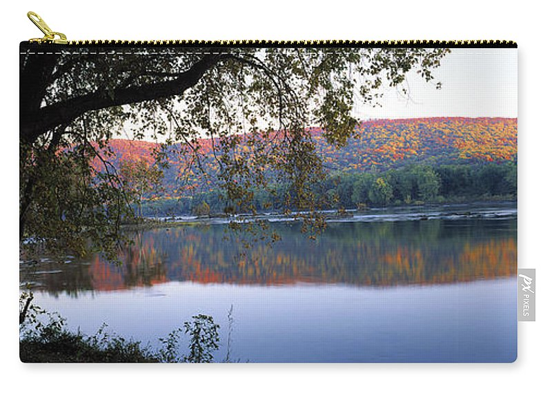 Autumn Carry-all Pouch featuring the photograph Autumn Lake by Mike Nellums