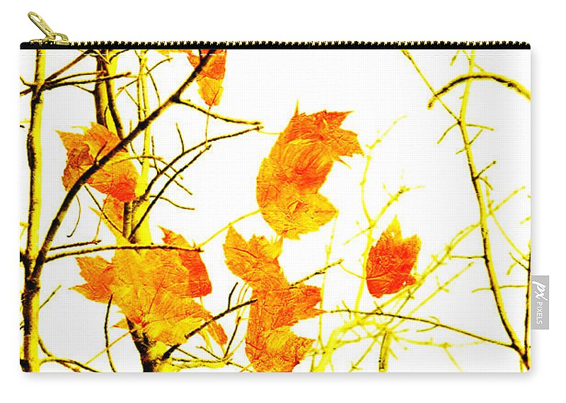 Abstract Carry-all Pouch featuring the photograph Autumn Leaves Abstract by Andee Design