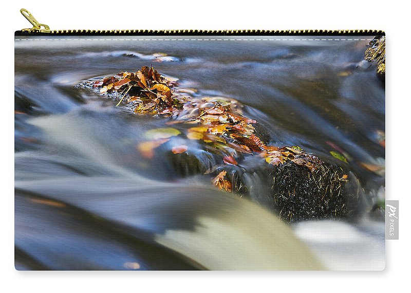 Hart Burn Carry-all Pouch featuring the photograph Autumn Leaves In Water by David Pringle