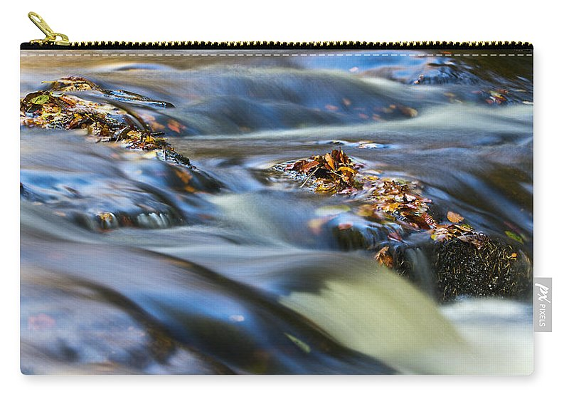 Hart Burn Carry-all Pouch featuring the photograph Autumn Leaves In Water IIi by David Pringle
