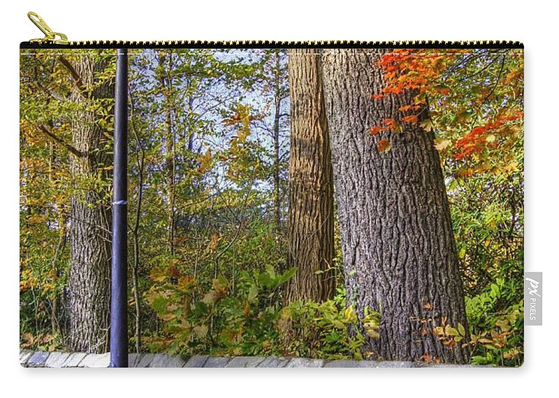 Autumn Landscape Carry-all Pouch featuring the photograph Autumn Light by Benanne Stiens