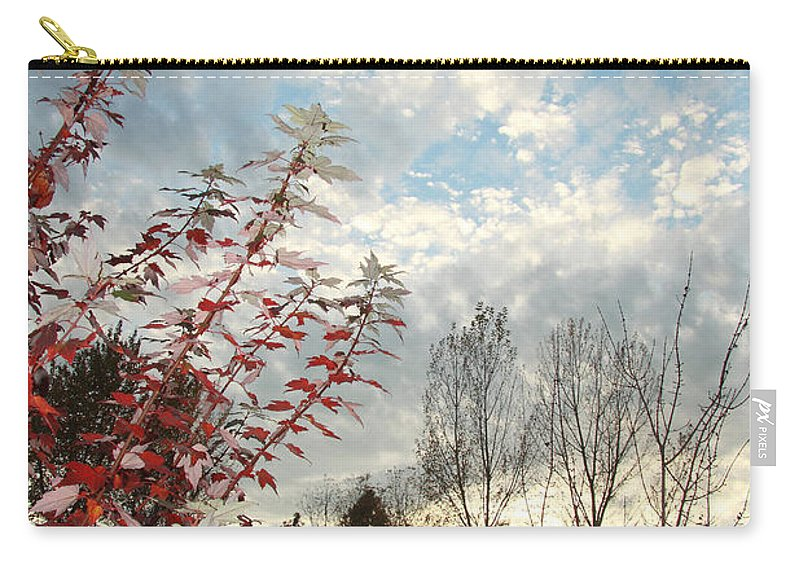 Autumn Carry-all Pouch featuring the photograph Autumn Maple And Sky by Mick Anderson