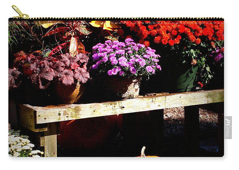 Autumn Carry-all Pouch featuring the photograph Autumn Market by Carol Groenen