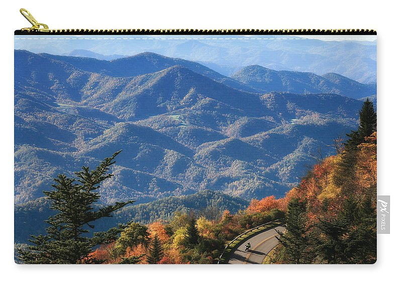 Blue Carry-all Pouch featuring the photograph Autumn On The Blue Ridge Parkway by Lynne Jenkins