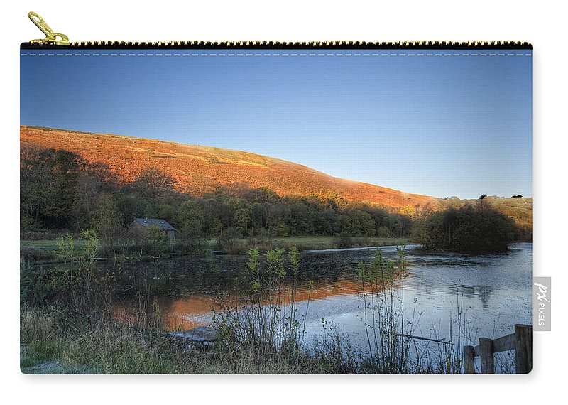 Autumn Pond Carry-all Pouch featuring the photograph Autumn Pond 2 by Steve Purnell