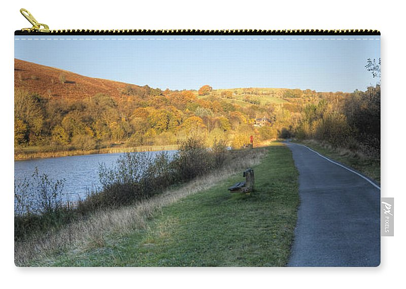 Autumn Pond Carry-all Pouch featuring the photograph Autumn Pond 5 by Steve Purnell