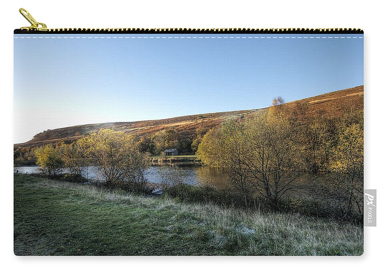 Autumn Pond Carry-all Pouch featuring the photograph Autumn Pond 7 by Steve Purnell