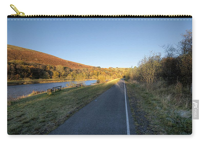 Autumn Pond Carry-all Pouch featuring the photograph Autumn Pond 8 by Steve Purnell
