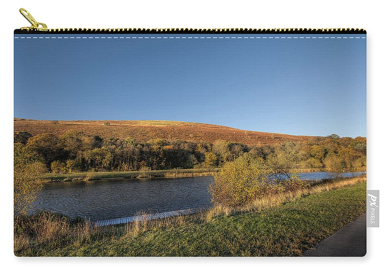 Autumn Pond Carry-all Pouch featuring the photograph Autumn Pond 9 by Steve Purnell