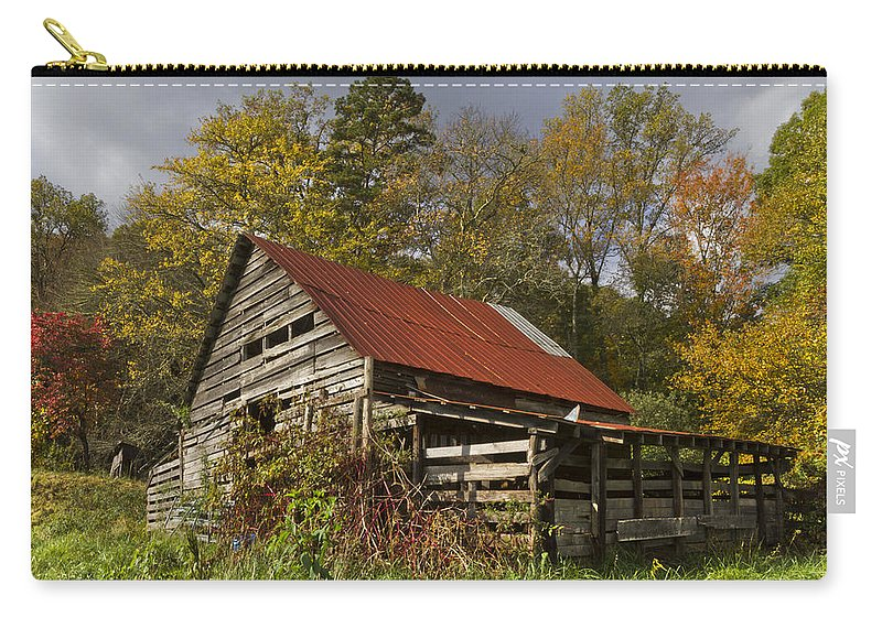 American Carry-all Pouch featuring the photograph Autumn Red by Debra and Dave Vanderlaan