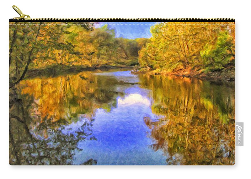 Autumn Carry-all Pouch featuring the painting Autumn Reflections by Dominic Piperata