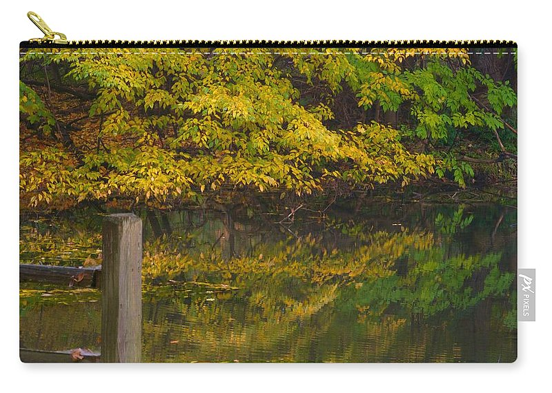 Autumn Carry-all Pouch featuring the photograph Autumn Reflections_0138 by Michael Peychich