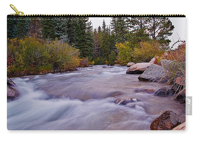 Water Carry-all Pouch featuring the photograph Autumn River by Brian Kerls