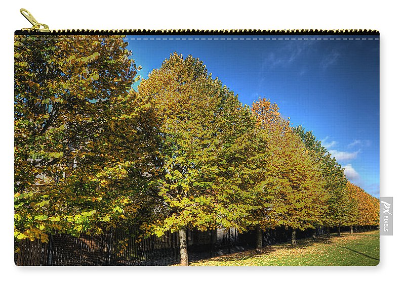 Autumn Trees Carry-all Pouch featuring the photograph Autumn Row by Steve Purnell