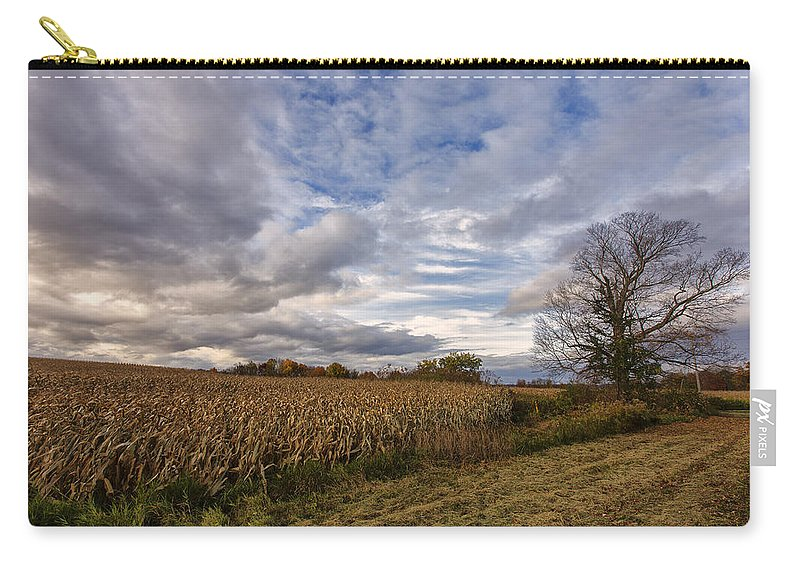 Tree Sky Carry-all Pouch featuring the photograph Autumn Sky by Rick Berk