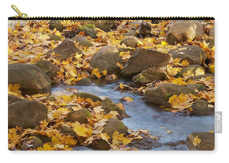 Autumn Carry-all Pouch featuring the photograph Autumn Slipping Away 0437 by Michael Peychich