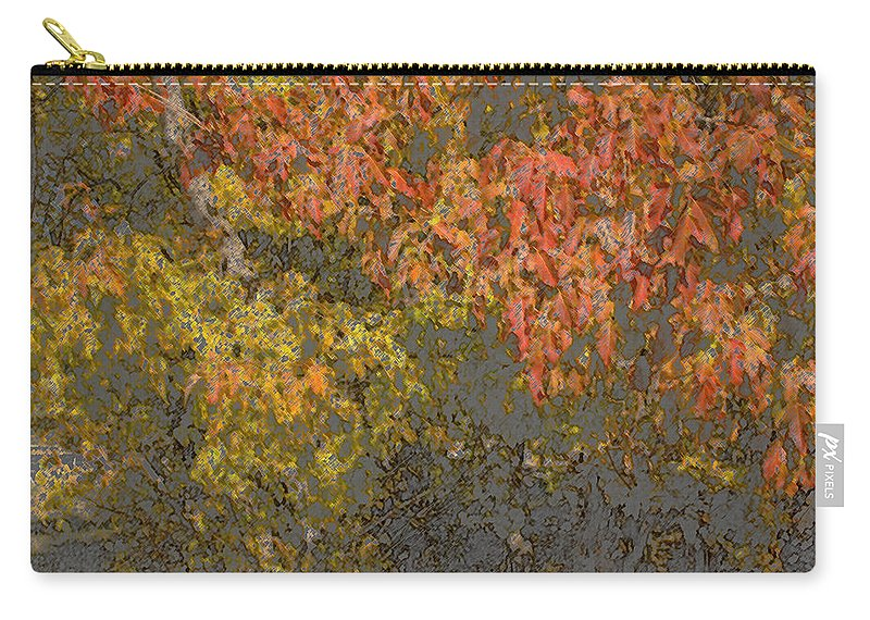 Leaves Carry-all Pouch featuring the photograph Autumn Splash by Joanne Smoley