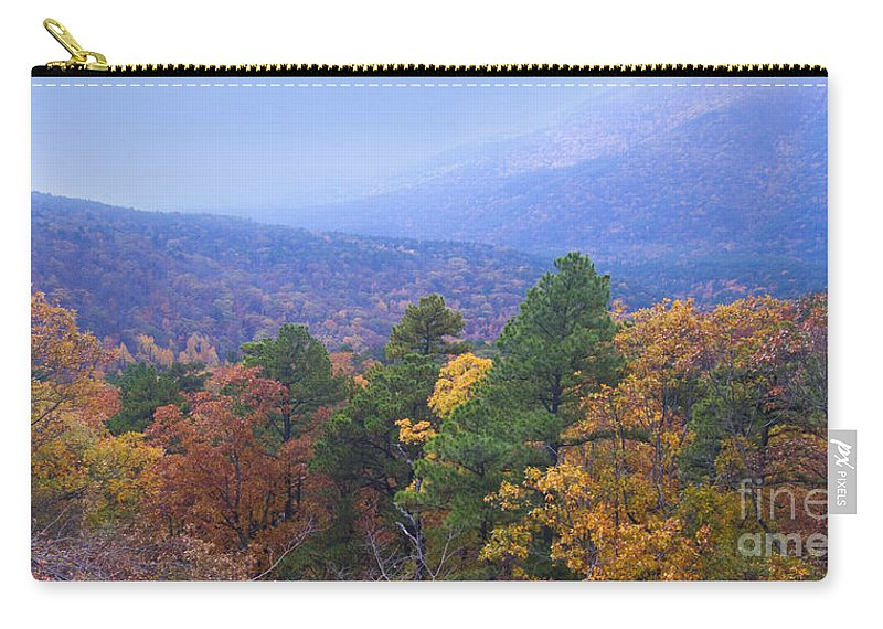 National Scenic Byway Carry-all Pouch featuring the photograph Autumn Splendor by Betty LaRue