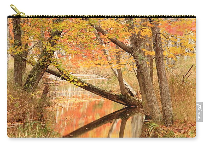 Autumn Carry-all Pouch featuring the photograph Autumn Stream by Roupen Baker