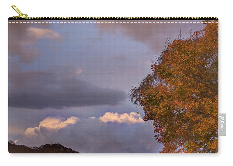 Foliage Carry-all Pouch featuring the photograph Autumn Sunset by Jonathan Steele