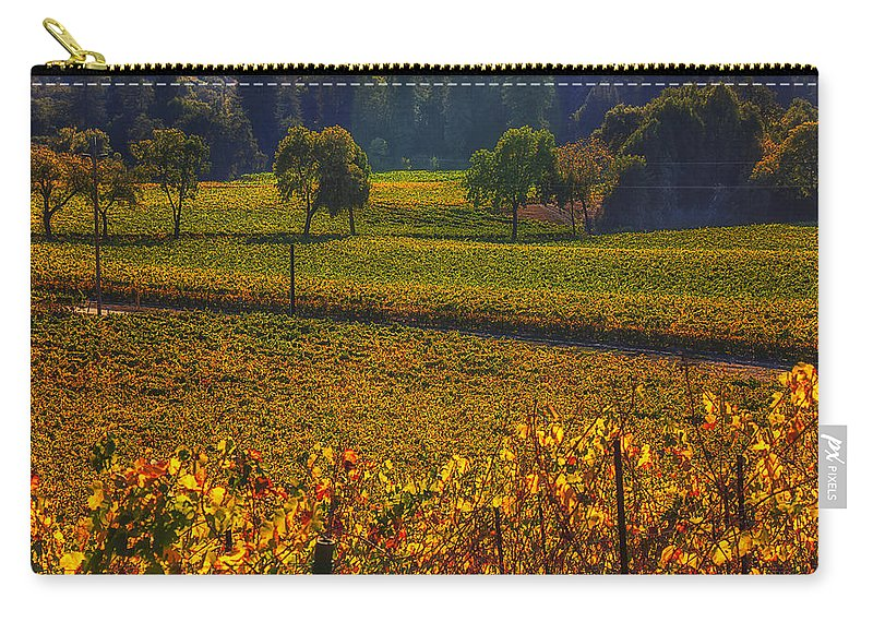Autumn Carry-all Pouch featuring the photograph Autumn Vineyards by Garry Gay