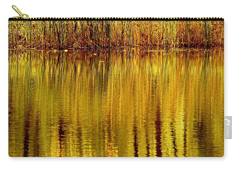 Nature Carry-all Pouch featuring the photograph Autumn Water Reflection Abstract II by Valerie Rosen