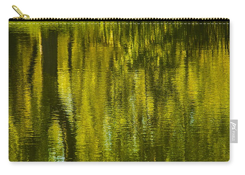 Montreal Carry-all Pouch featuring the photograph Autumn Water Reflection Abstract IIi by Valerie Rosen