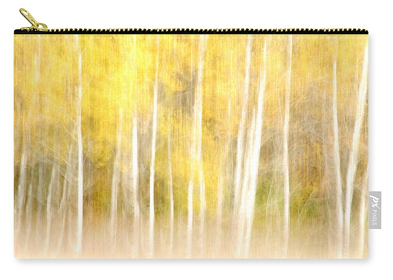 Optical Playground By Mp Ray Carry-all Pouch featuring the photograph Autumns Abstract by Optical Playground By MP Ray