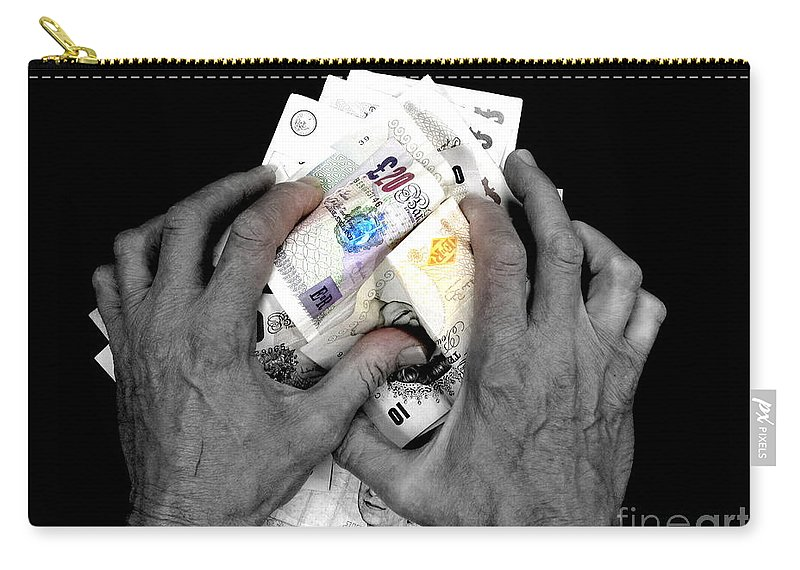 Avarice Carry-all Pouch featuring the photograph Avarice by John Chatterley