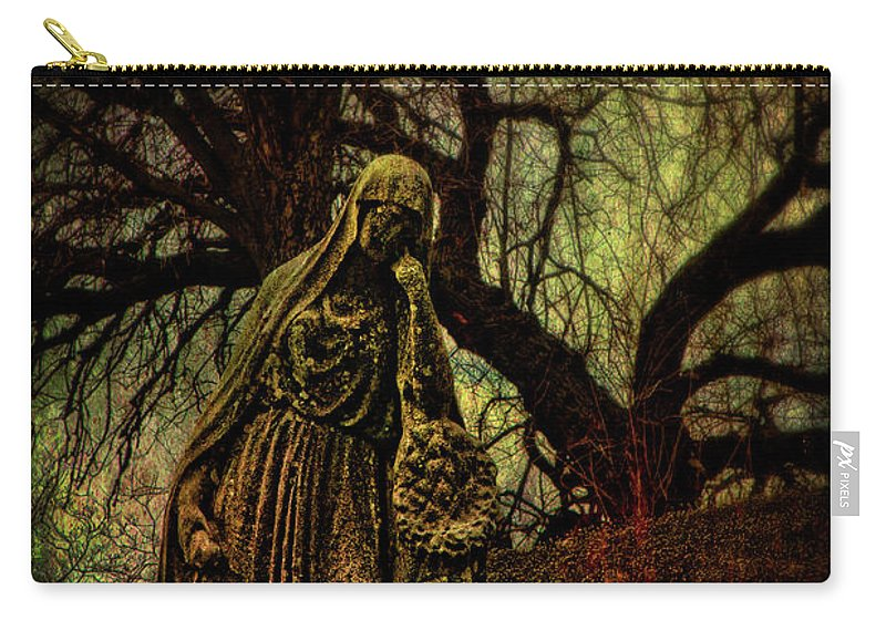Cemetery Carry-all Pouch featuring the photograph Ave Maria Full Of Sorrows by Chris Lord