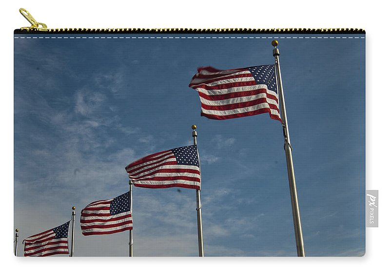 Washington Dc Carry-all Pouch featuring the photograph Avenue Of Flags by Darleen Stry