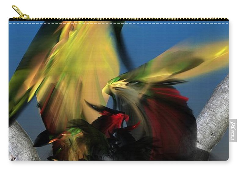 Fine Art Carry-all Pouch featuring the digital art Avian Dreams Series 1-1311 by David Lane