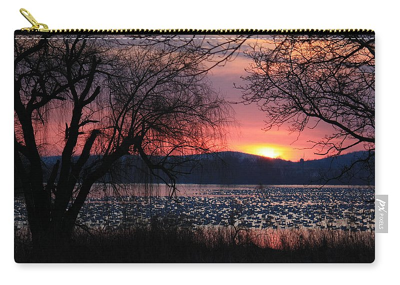 Sunrise Carry-all Pouch featuring the photograph Awakening by Lori Deiter