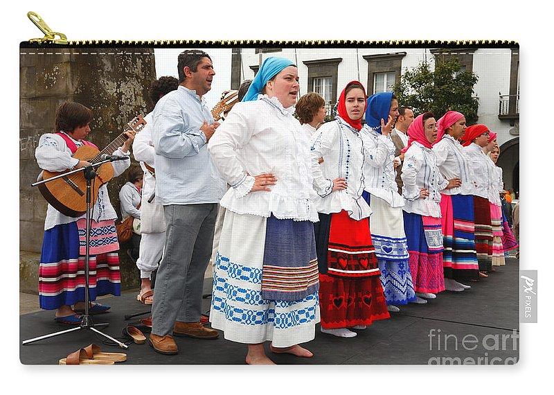 Folk Carry-all Pouch featuring the photograph Azorean Folk Music Group by Gaspar Avila