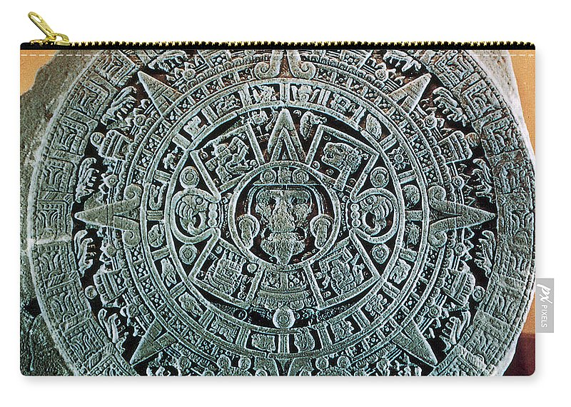 Aztec Calendar Stone.Aztec Calendar Stone Carry All Pouch