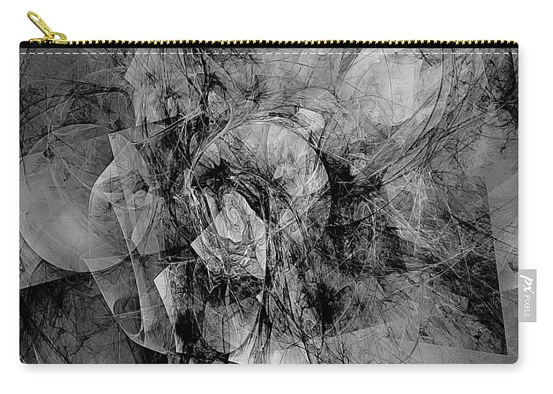 Graphics Carry-all Pouch featuring the digital art B-w 0561 by Marek Lutek