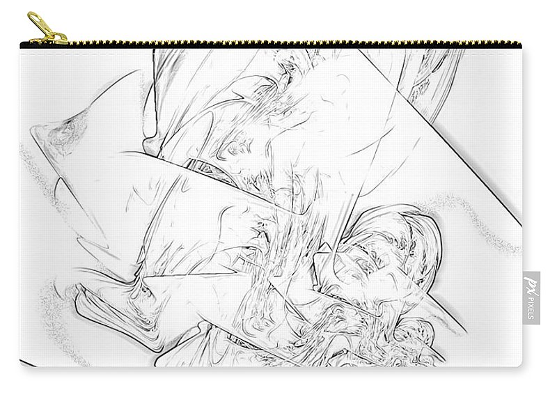 Graphics Carry-all Pouch featuring the digital art B-w 0567 by Marek Lutek