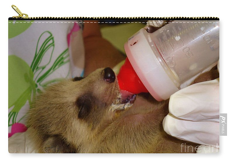 Bottle Carry-all Pouch featuring the photograph Ba Ba by Art Dingo
