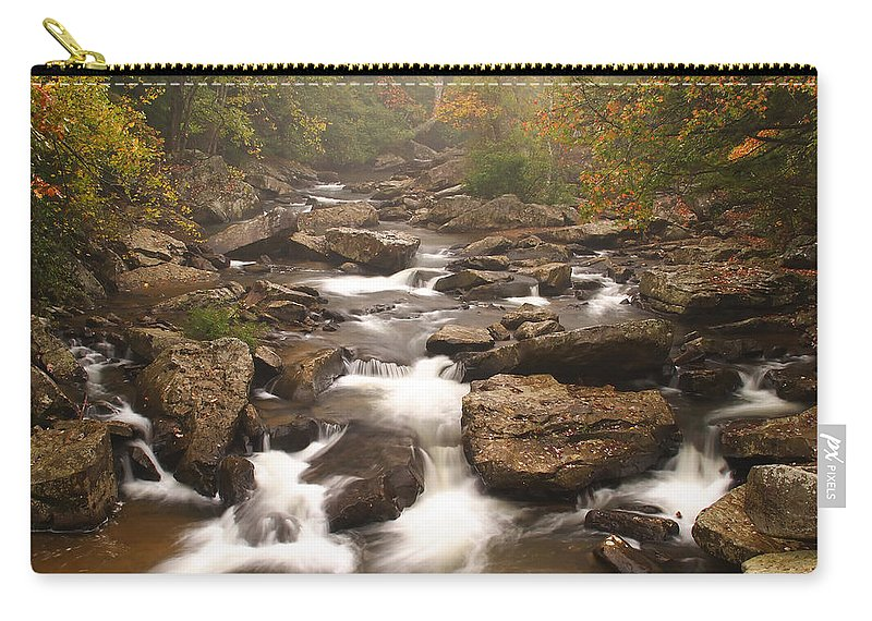 Glade Carry-all Pouch featuring the photograph Babcock Creek Scene 1 by John Brueske