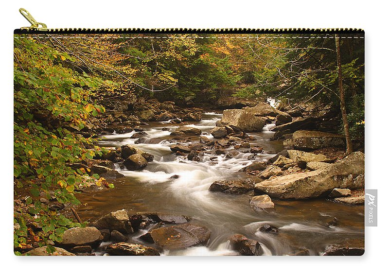 Glade Carry-all Pouch featuring the photograph Babcock Creek Scene 4 by John Brueske