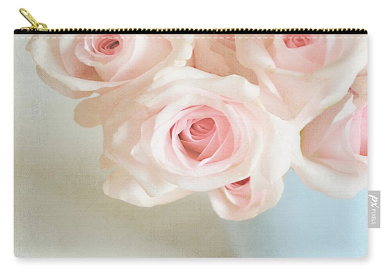 Roses Carry-all Pouch featuring the photograph Baby Pink Roses by Lyn Randle