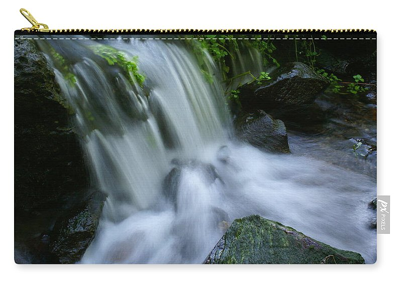 Waterfall Carry-all Pouch featuring the photograph Baby Waterfall by Ben Upham III