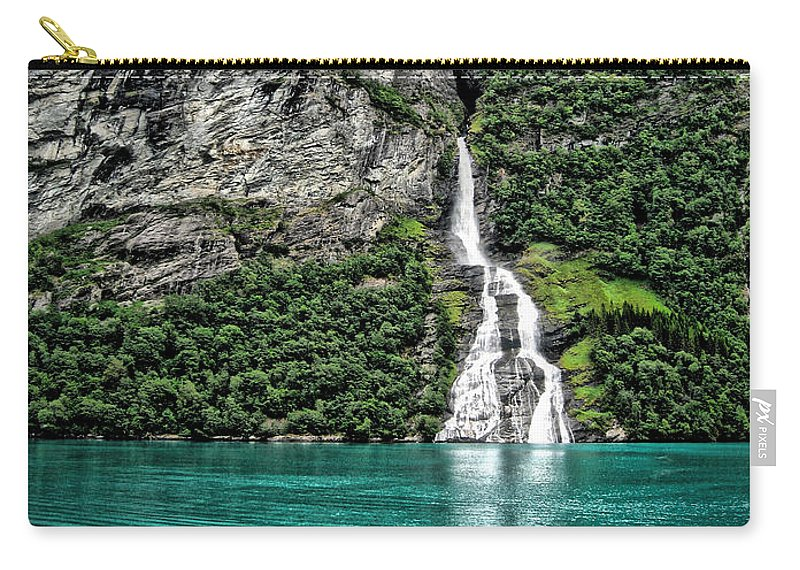 Bachelor Falls Carry-all Pouch featuring the photograph Bachelor Falls by Phyllis Kaltenbach