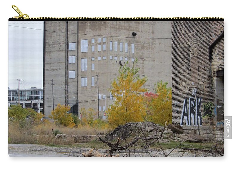 Milwaukee Carry-all Pouch featuring the photograph Back Of Warehouse Branches 1 by Anita Burgermeister