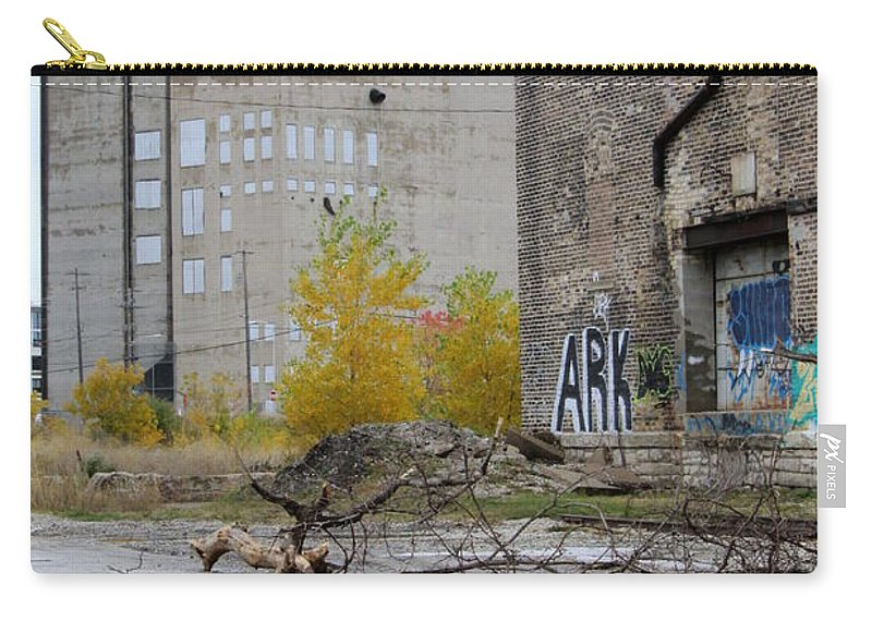 Milwaukee Carry-all Pouch featuring the photograph Back Of Warehouse Loading Dock 2 by Anita Burgermeister