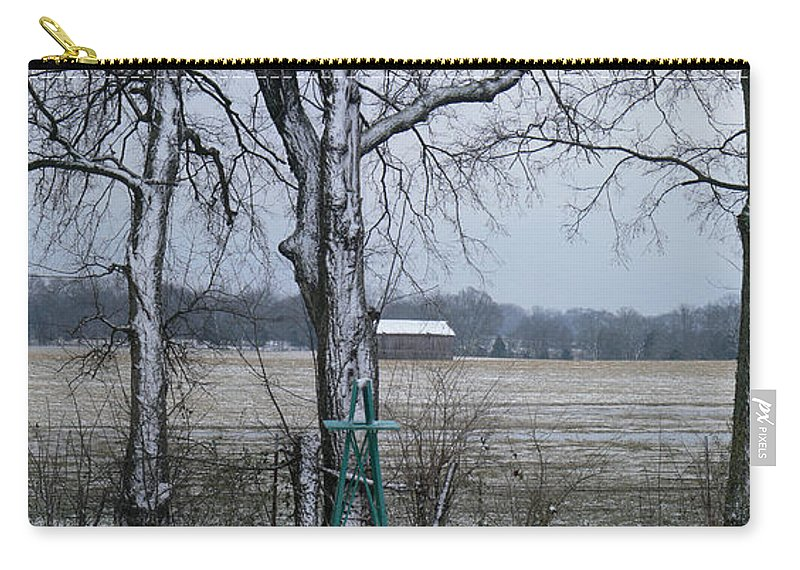 Tn Carry-all Pouch featuring the photograph Backyard Panoramic by Ericamaxine Price