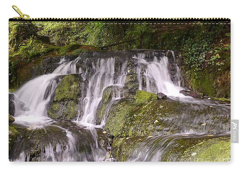 Waterfall Carry-all Pouch featuring the photograph Badger Dingle by John Chatterley