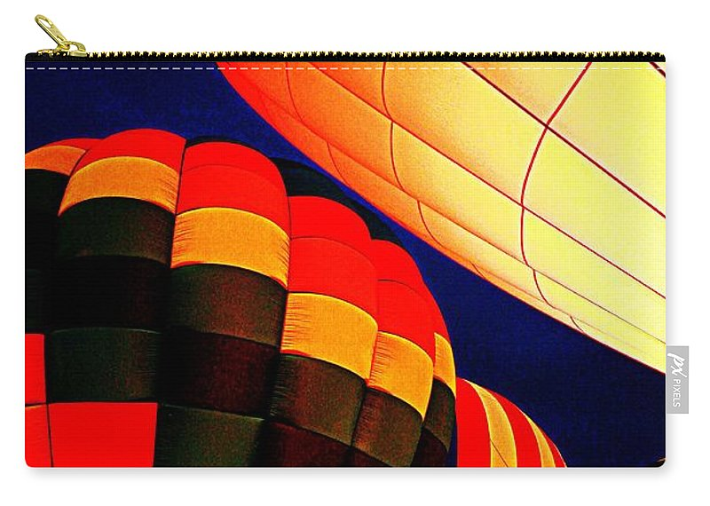Hot Air Baloon Carry-all Pouch featuring the photograph Balloon Glow 1 by Marty Koch