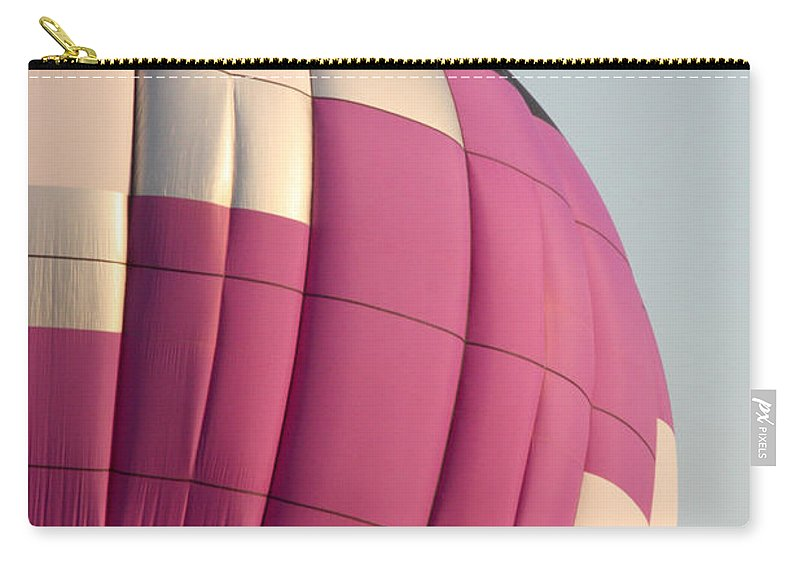 Hot Air Balloon Carry-all Pouch featuring the photograph Balloon-purple-7462 by Gary Gingrich Galleries